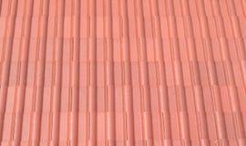 Κόκκινη στέγη κασσίτερου Στοκ εικόνες με δικαίωμα ελεύθερης χρήσης