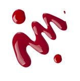 Κόκκινη στιλβωτική ουσία καρφιών στοκ εικόνες