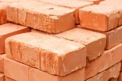 κόκκινη στοίβα τούβλων Στοκ εικόνα με δικαίωμα ελεύθερης χρήσης