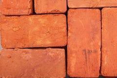 κόκκινη στοίβα τούβλων Στοκ Φωτογραφία