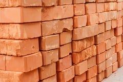 κόκκινη στοίβα τούβλων Στοκ εικόνες με δικαίωμα ελεύθερης χρήσης
