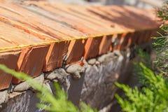 κόκκινη στοίβα τούβλων Στοκ Εικόνες