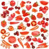 Κόκκινη συλλογή τροφίμων στοκ εικόνες