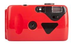 Κόκκινη συμπαγής φωτογραφική μηχανή ταινιών Στοκ Εικόνα
