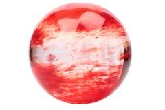 Κόκκινη σφαίρα κρυστάλλου Στοκ Εικόνα