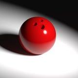 Κόκκινη σφαίρα μπόουλινγκ Στοκ Φωτογραφίες