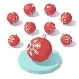 Κόκκινη σφαίρα παιχνιδιών Χριστουγέννων Στοκ Εικόνα