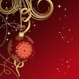 Κόκκινη σφαίρα Χριστουγέννων Στοκ Εικόνα