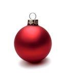 Κόκκινη σφαίρα Χριστουγέννων Στοκ Φωτογραφίες