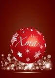 Κόκκινη σφαίρα Χριστουγέννων Στοκ Εικόνες