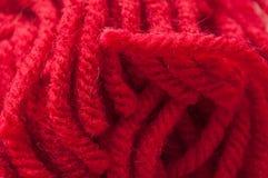 Κόκκινη σύσταση καλωδίων μαλλιού Στοκ Εικόνα