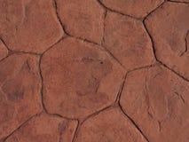 Κόκκινη σύσταση πατωμάτων πετρών Στοκ Φωτογραφία