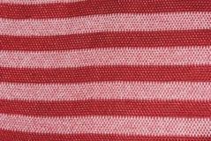 κόκκινη σύσταση υφασμάτων Στοκ φωτογραφία με δικαίωμα ελεύθερης χρήσης
