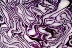 κόκκινη σύσταση φετών λάχαν&o Στοκ Εικόνες