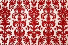 κόκκινη ταπετσαρία προτύπ&omega Στοκ Εικόνα