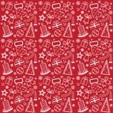 κόκκινη ταπετσαρία Χριστ&omicr Απεικόνιση αποθεμάτων
