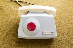 Κόκκινη τηλεφωνική επικοινωνία στοκ φωτογραφίες