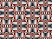 Κόκκινη τρισδιάστατη διακόσμηση διακοσμήσεων Στοκ Εικόνες