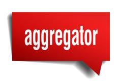 Κόκκινη τρισδιάστατη λεκτική φυσαλίδα Aggregator Διανυσματική απεικόνιση