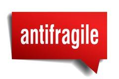 Κόκκινη τρισδιάστατη λεκτική φυσαλίδα Antifragile ελεύθερη απεικόνιση δικαιώματος