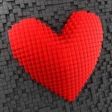 Κόκκινη τρισδιάστατη περίληψη καρδιών ελεύθερη απεικόνιση δικαιώματος
