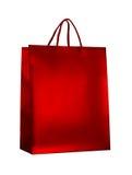 Κόκκινη τσάντα αγορών Στοκ Εικόνα