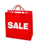 Κόκκινη τσάντα πώλησης Στοκ φωτογραφία με δικαίωμα ελεύθερης χρήσης