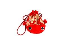 Κόκκινη τσάντα ψαριών Στοκ φωτογραφία με δικαίωμα ελεύθερης χρήσης