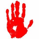 Κόκκινη τυπωμένη ύλη χεριών Στοκ φωτογραφία με δικαίωμα ελεύθερης χρήσης