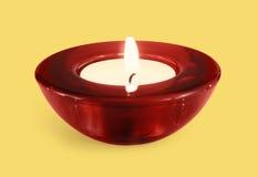 κόκκινη υποστήριξη κεριών Στοκ φωτογραφία με δικαίωμα ελεύθερης χρήσης
