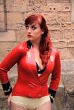 κόκκινη φθορά λατέξ κοριτ&sigma Στοκ φωτογραφία με δικαίωμα ελεύθερης χρήσης