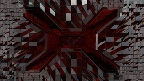 Κόκκινη φουτουριστική διαστημική είσοδος σηράγγων Στοκ Φωτογραφίες