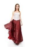 κόκκινη φούστα κοριτσιών Στοκ φωτογραφίες με δικαίωμα ελεύθερης χρήσης
