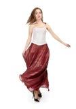 κόκκινη φούστα κοριτσιών Στοκ εικόνα με δικαίωμα ελεύθερης χρήσης