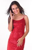 κόκκινη φούστα κοριτσιών &epsil Στοκ φωτογραφίες με δικαίωμα ελεύθερης χρήσης