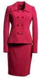 κόκκινη φούστα σακακιών στοκ εικόνες