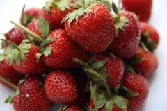 Κόκκινη φράουλα μούρων στο άσπρο υπόβαθρο Στοκ εικόνες με δικαίωμα ελεύθερης χρήσης