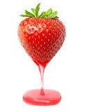 Κόκκινη φράουλα μούρων με την καραμέλα Στοκ Εικόνες