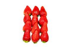 Κόκκινη φράουλα μούρων που απομονώνεται σε ένα άσπρο υπόβαθρο Στοκ φωτογραφία με δικαίωμα ελεύθερης χρήσης