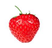 Κόκκινη φράουλα μούρων που απομονώνεται Στοκ Εικόνες