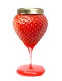 Κόκκινη φράουλα μούρων όπως το βάζο μαρμελάδας με την καραμέλα Στοκ Εικόνα