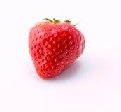 Κόκκινη φράουλα στο άσπρο υπόβαθρο Στοκ Φωτογραφία