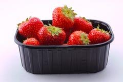 Κόκκινη φράουλα στο άσπρο υπόβαθρο Στοκ Εικόνα