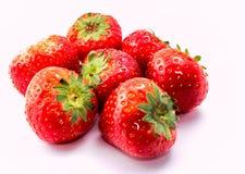 Κόκκινη φράουλα στο άσπρο υπόβαθρο Στοκ Εικόνες