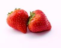 Κόκκινη φράουλα στο άσπρο υπόβαθρο Στοκ φωτογραφίες με δικαίωμα ελεύθερης χρήσης