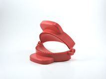 Κόκκινη φόρμα Τύπου ριπών κάρρυ Στοκ Εικόνες