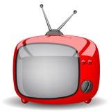 Κόκκινη χαριτωμένη TV Στοκ Εικόνες