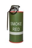 Κόκκινη χειροβομβίδα καπνού m18 Στοκ εικόνα με δικαίωμα ελεύθερης χρήσης