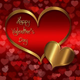 Κόκκινη χρυσή συλλογή καρδιών Στοκ εικόνες με δικαίωμα ελεύθερης χρήσης