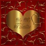 Κόκκινη χρυσή συλλογή καρδιών Στοκ Εικόνες